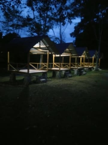 Huts for chilling and camping
