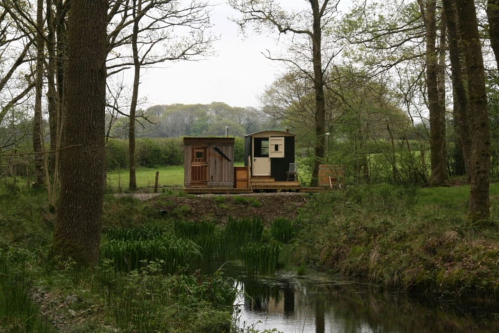 Situated in an oak wood beside a flight pond