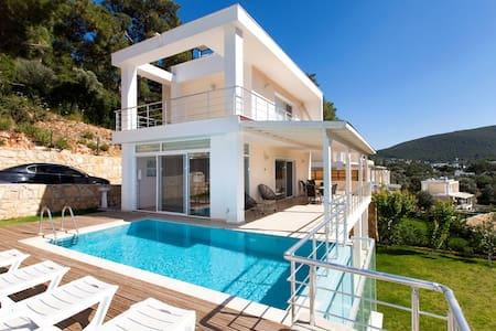 With Private Pool 4+1 Triplex Villa - Torba Mahallesi
