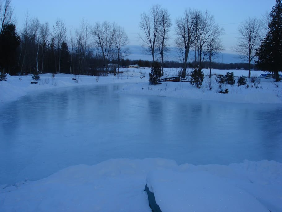 Winter fun includes skating on pond or lake,
