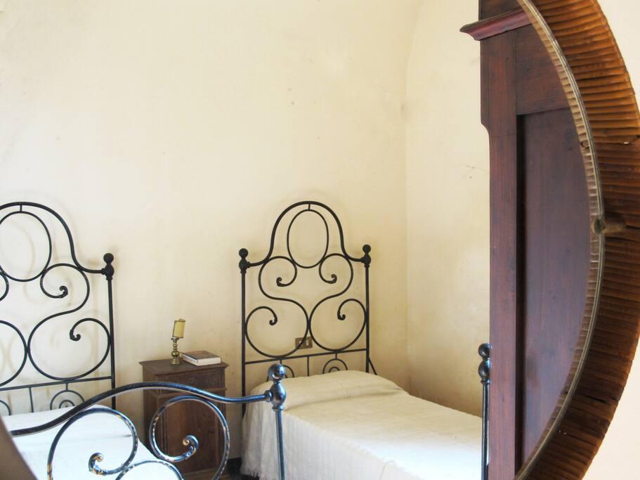 La camera da letto che può essere doppia o matrimoniale a seconda delle vostre esigenze