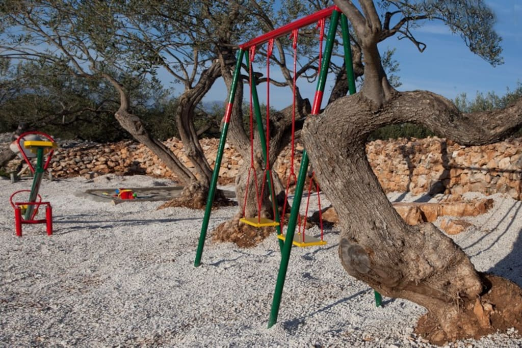 Holiday home MIRCA, Brac island, children's playground