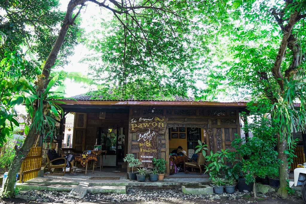 We Call it Guesthouse of Pawon Luwak Coffee, Our house located in front of Pawon temple. Concept of our house is authentic Java architecture.