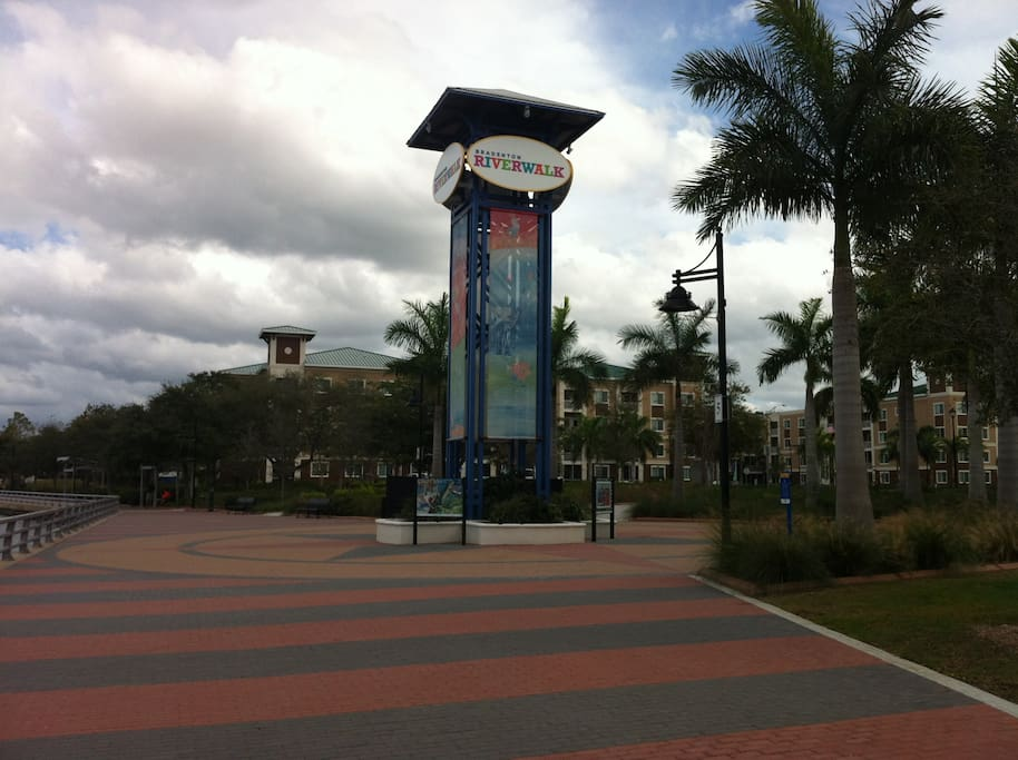 The Riverwalk - A 1.5 mile paved walk along the Manatee River with art installations, skate park, children's playground and ampitheater.  Just a short walk from the cottage.