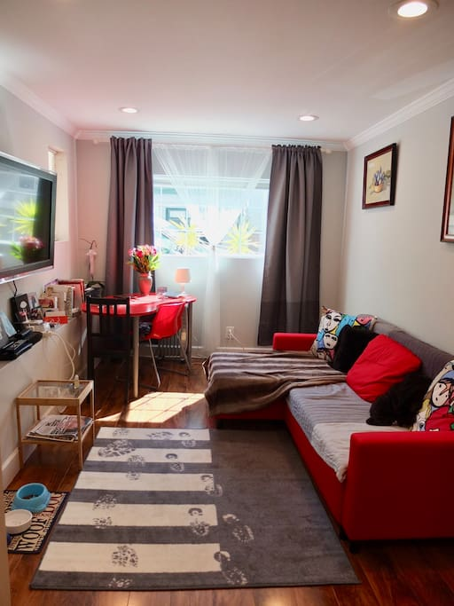 Living room - extendable sofa