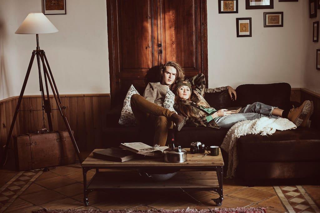 Rincón de lectura y relax.