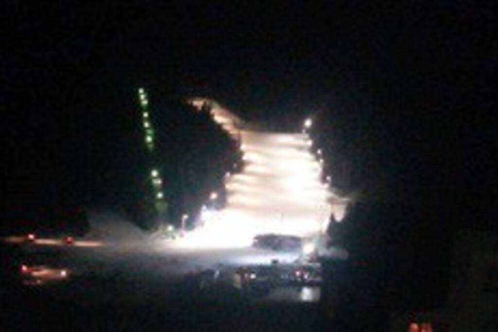 Skiing by night
