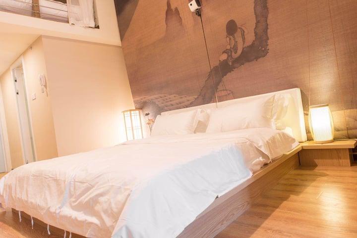 渝中区解放碑十八梯洪崖洞日式温馨双床房和风小清新予舍