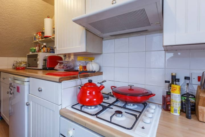 Well equipped galley style kitchen