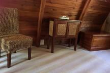 Cedar Loft cabin bedroom