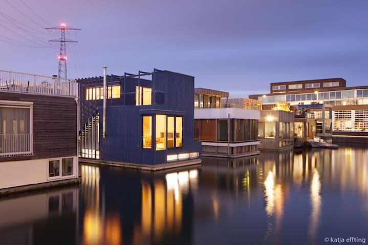 ★★★★★ Amsterdam Floating Mansion parking+roofpatio