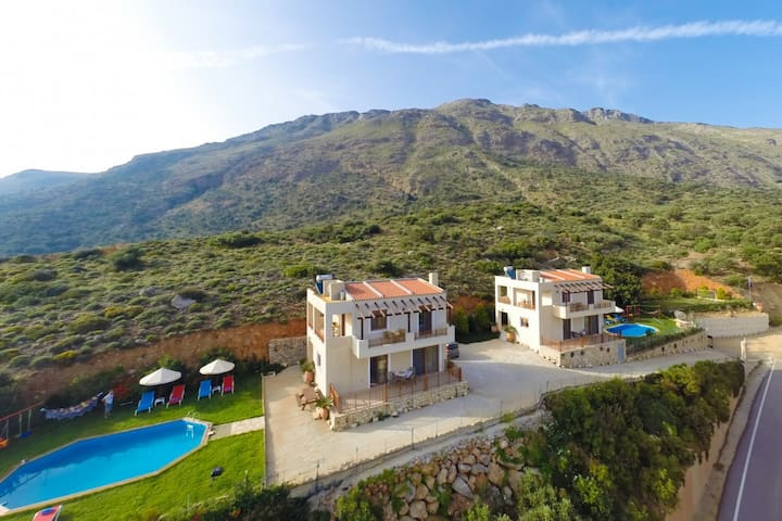 Complex of 2 holiday villas, Triopetra,  South ... - Triopetra