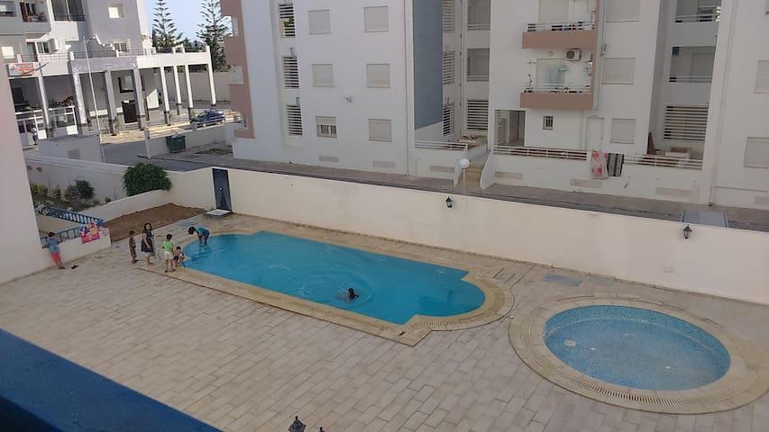 S+2 meublé à 10mn de Hammamet et 5mn de la plage - Nabeul - Leilighet
