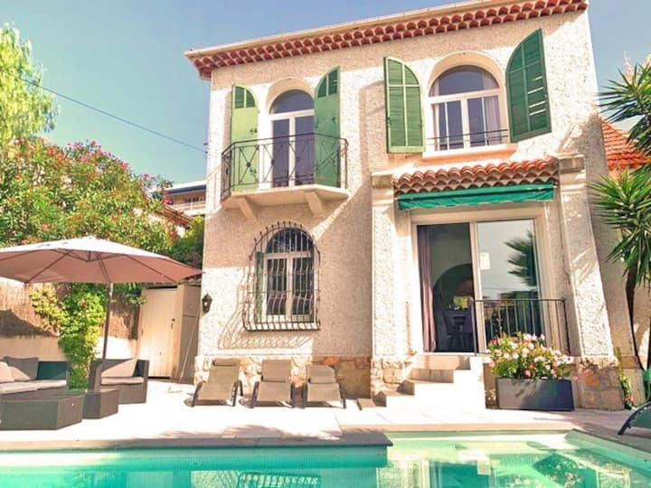 Le Cannet villa ideal Cannes festivals/family stay
