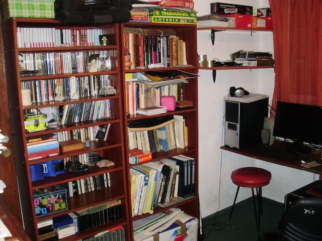 habitacion-escritorio para el visitante tambien tengo libros, musica y algunos juegos