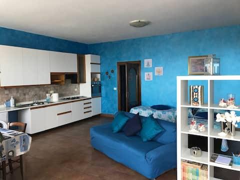 Appartamento in collina con vista mare!