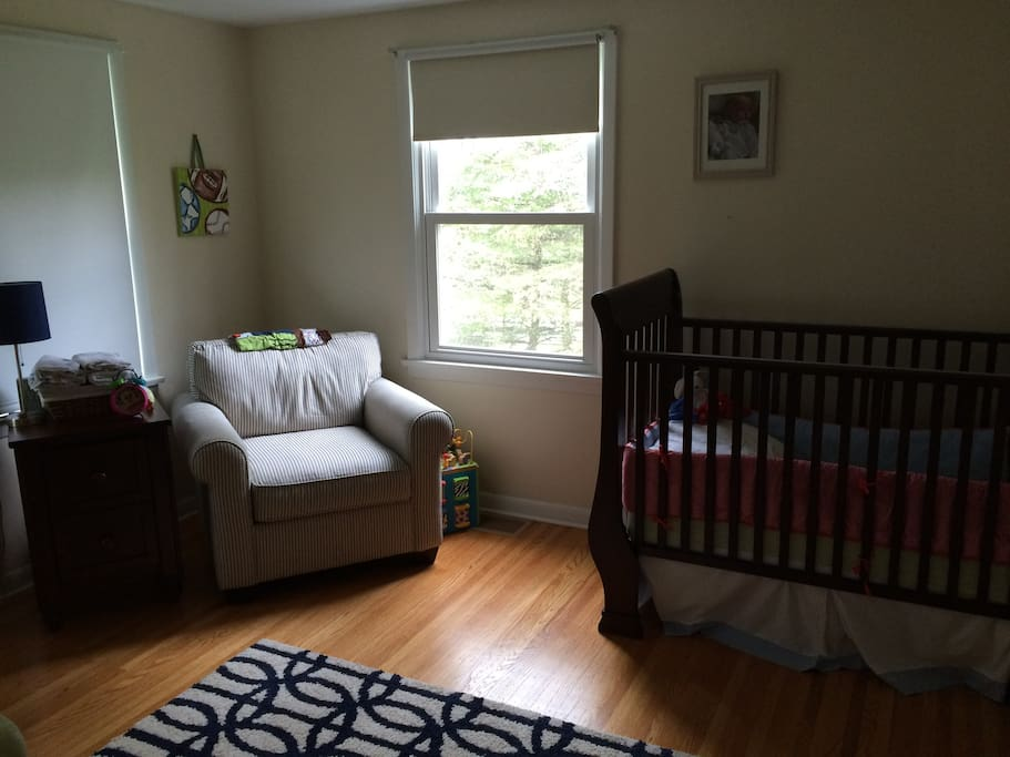 The nursery with one crib.  Room will likely have a twin bed in it as well at time of reservation