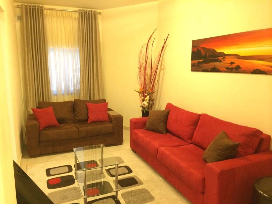 Sitting room with TV and USB/CD Player
