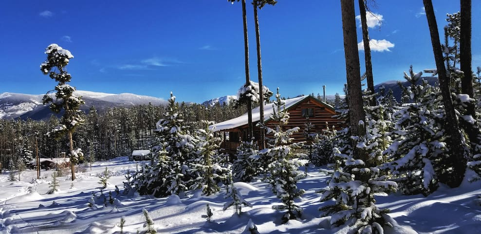 Grand Lake handcrafted log home