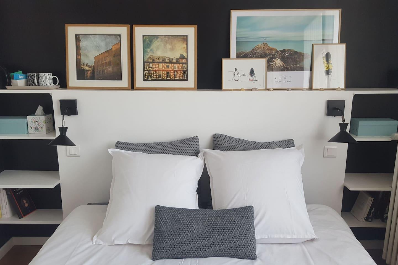 Un lit confortable en 160 de large