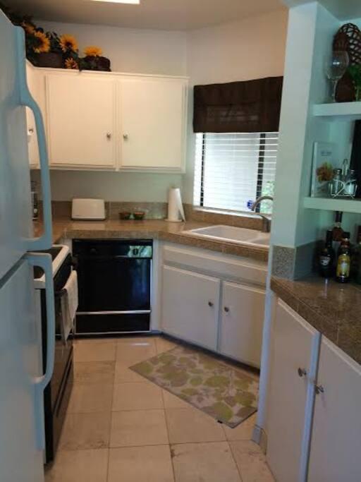 Kitchen fully stocked