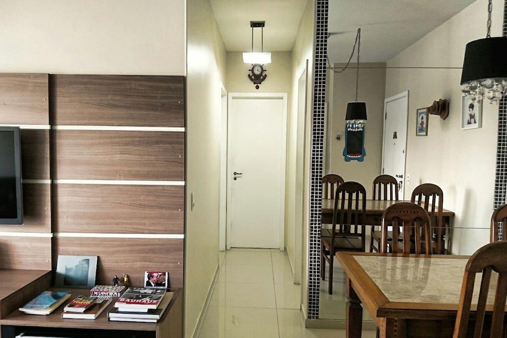 Acesso aos quartos/ Bedrooms corridor