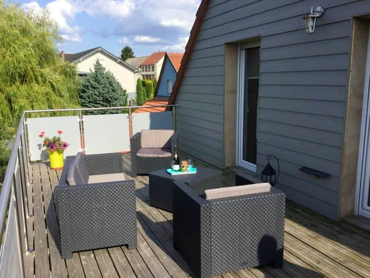 Apartment with 3 bedrooms in Lohr, with wonderful city view, enclosed garden and WiFi