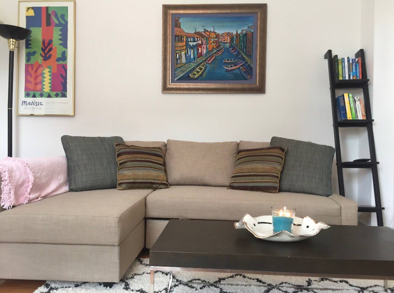 Living room, couch