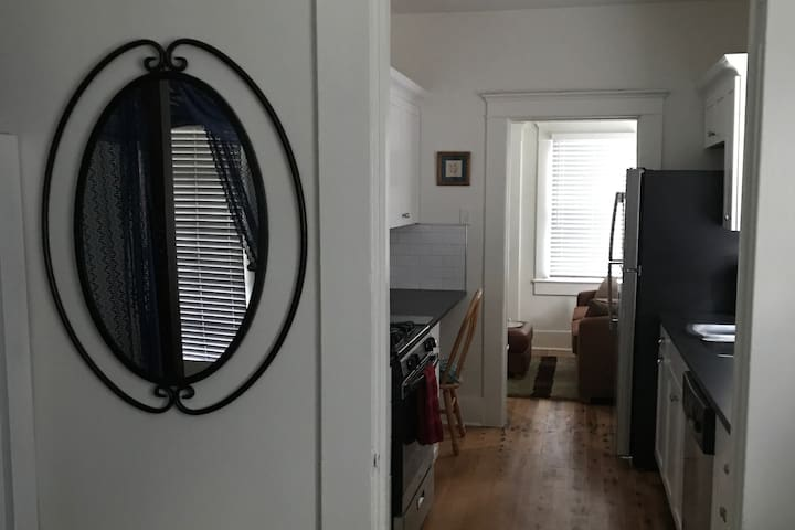 Totally remodeled and fully stocked kitchen with dishwasher and stainless appliances.