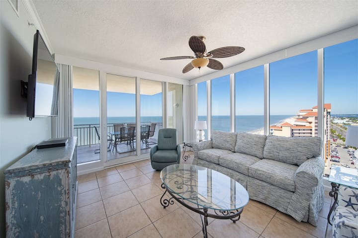 Beautiful Newly Updated 4Bed/4Bath Beach Front Condo In the Heart Of Gulf Shores! Colonnades 1903 !