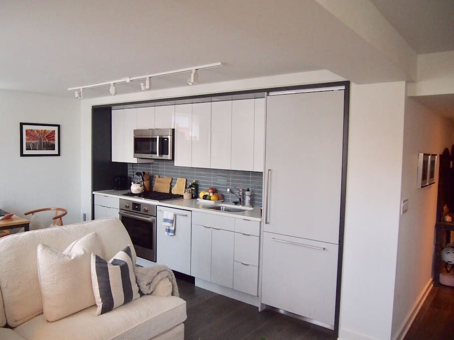 Modern kitchen with top of the line appliances