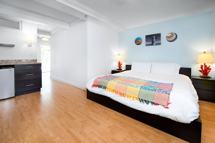 Standard King - one king bed (pet friendly) - Canalside Inn