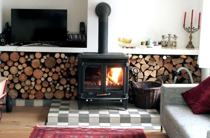 This big fireplace is the largest of its kind and can heat the whole house