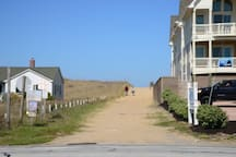 Direct beach access. House is located across the street from ocean.