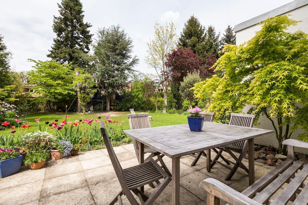 Garten und Terasse zur Mitbenutzung/ Garden and terrace for joined use