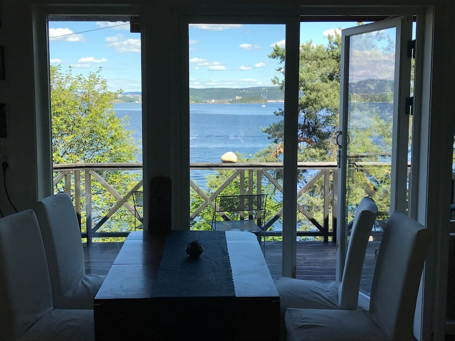 The View from the LivingRoom and dining table