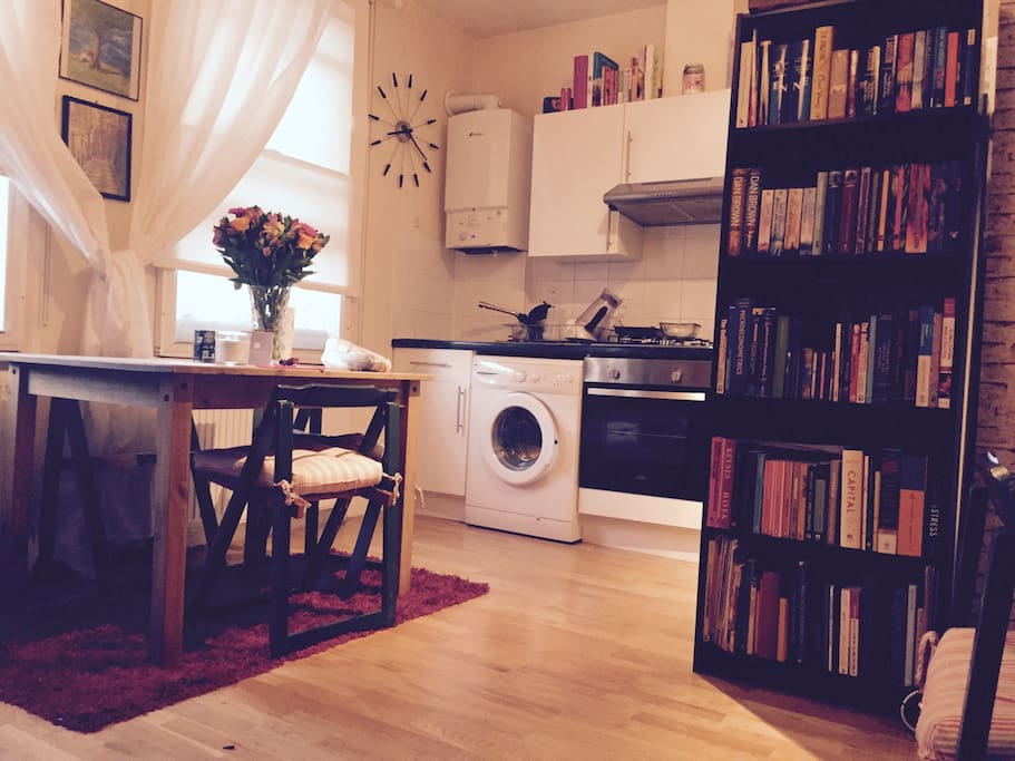 Cute little living room and kitchen