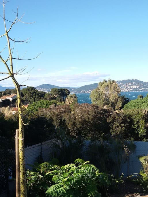 Vue sur mer depuis le jardin et terrasse