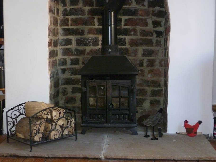 Our wood burning stove - great on a cold winter evening