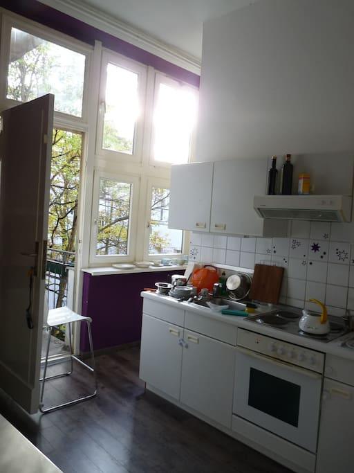 the kitchen+ balcony