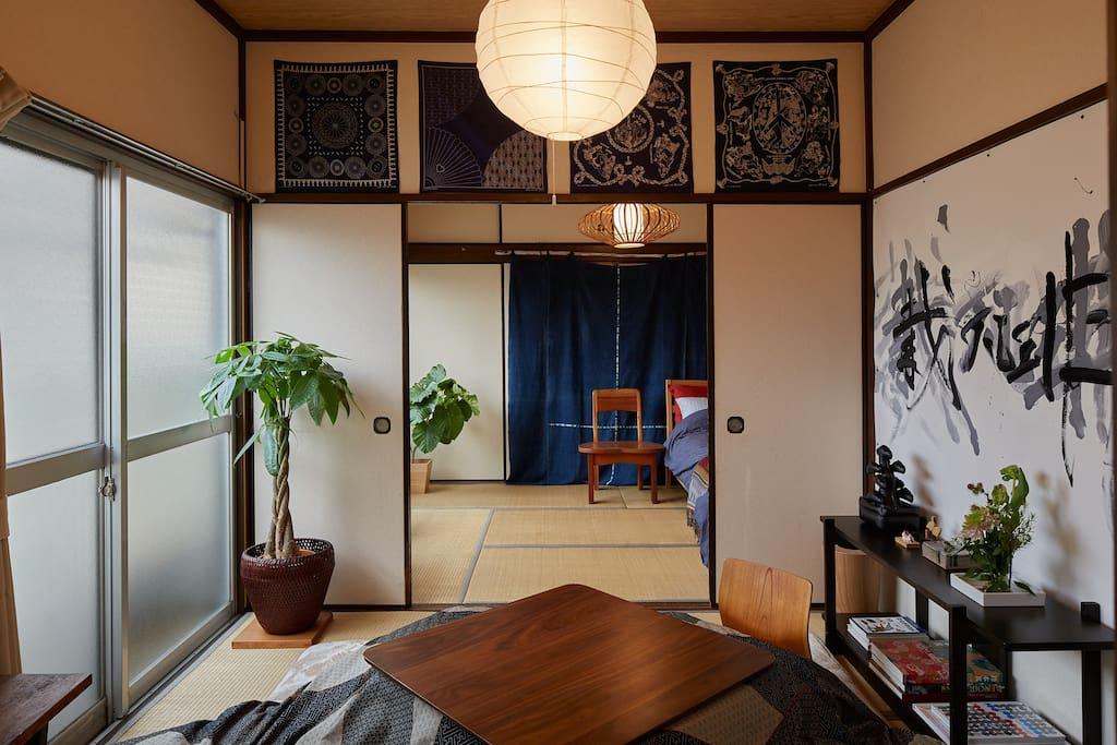 Japanese modern style.Tatami room.
