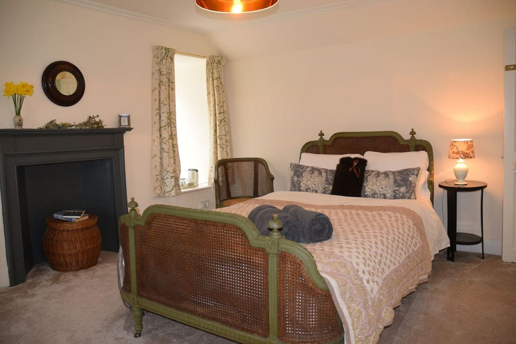 Our Woodlands Room, with a Lovely Antique Bed & Views of Our Historic Old Growth Forest