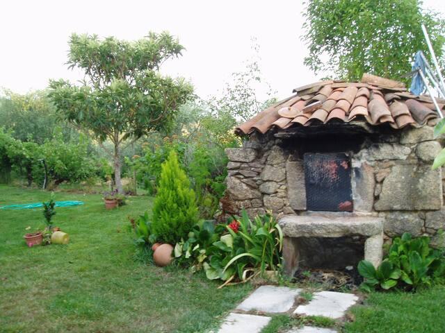 Wood oven in the garden