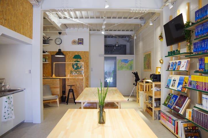 Hostel near Takaoka Sta.【高岡駅近く,カプセル型ゲストハウス】