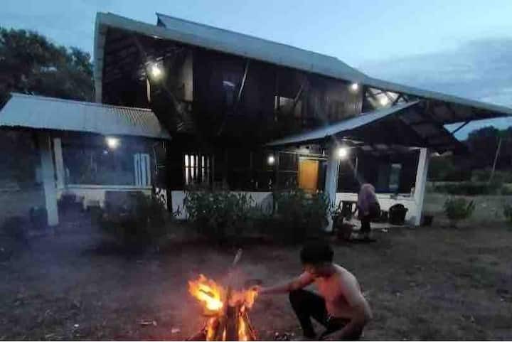 Sam's bungalow by the beach, off Telok Melano