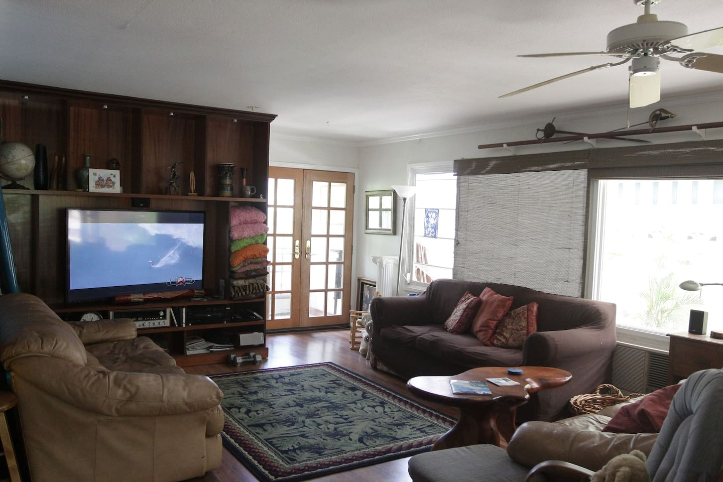 large screen for watching movies