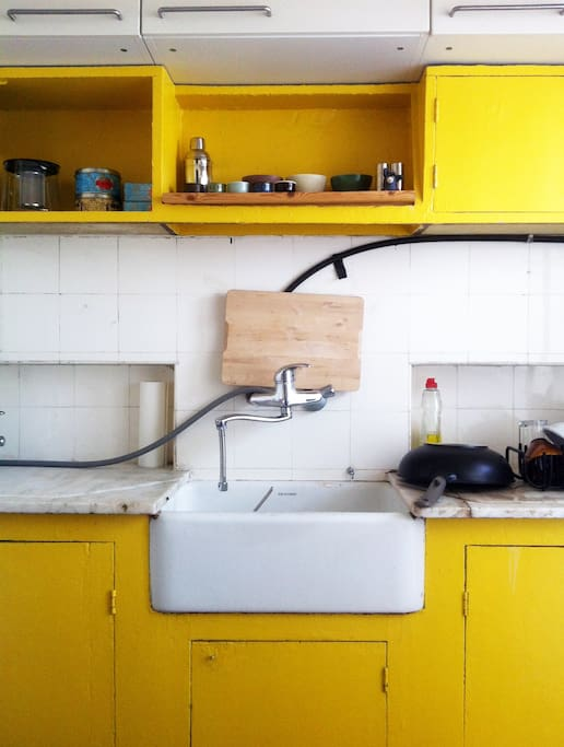 Authentic separated kitchen, fully equiped