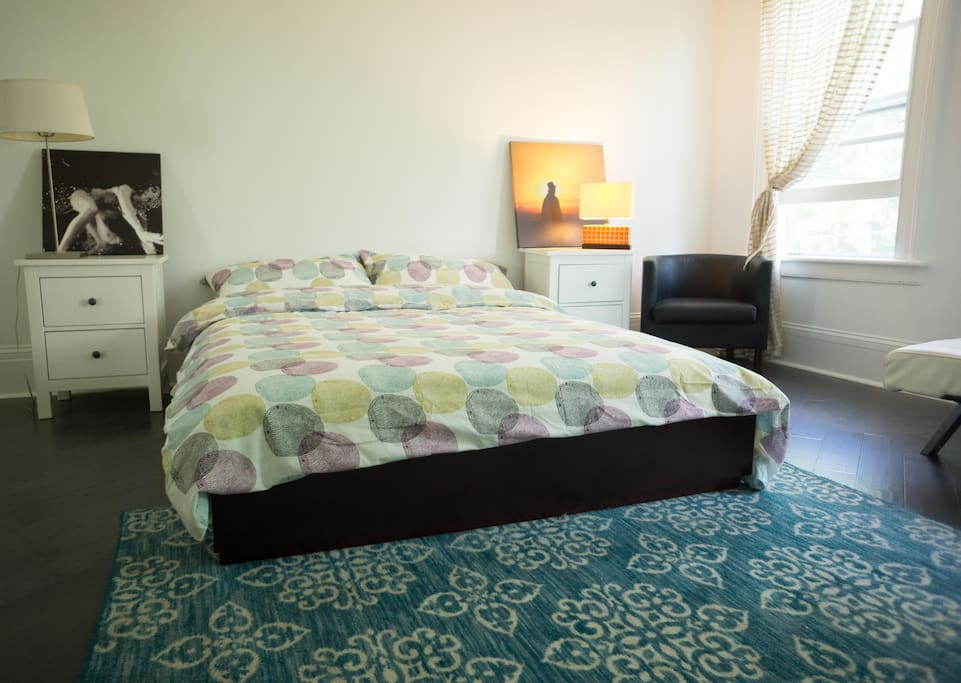 Second bedroom with Queen size bed and convertible daybed.