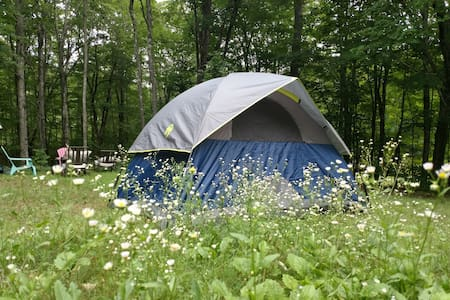Backyard Tenting -Tent and Sleeping Bags Provided!