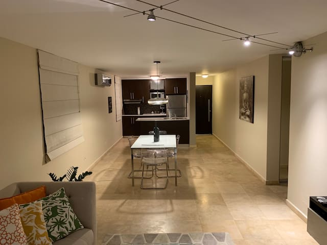 Dining Area & Equipped Kitchen.